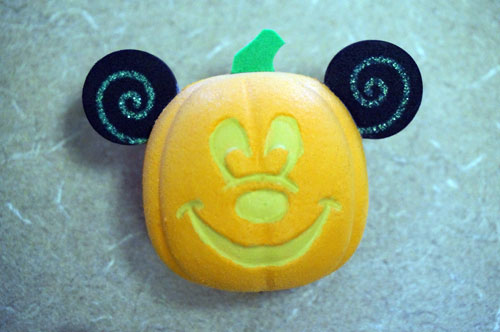 Mickey pumpkin antenna topper (also a nice decoration on its own)