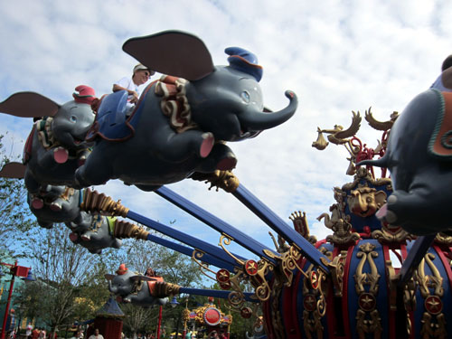 Good news - there is no height restriction for Dumbo!