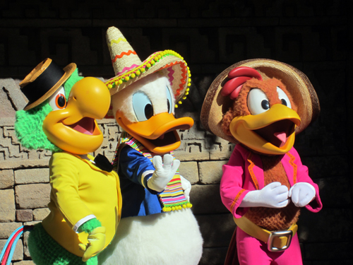 The Gran Fiesta Tour features Donald Duck and the Three Caballeros.