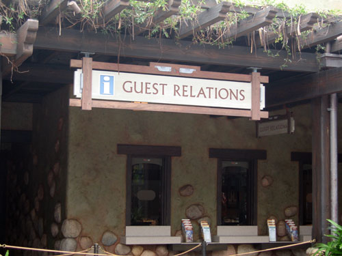 If you've lost something at Disney World, Guest Relations is one of the places to check.