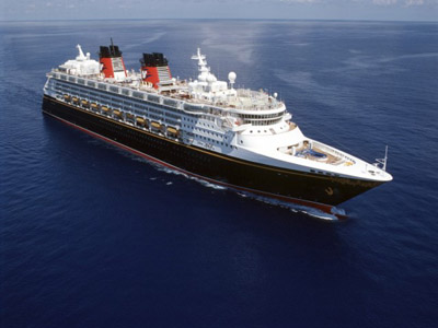 The Disney Magic at sea. Photo credits (C) Disney Enterprises, Inc. All Rights Reserved