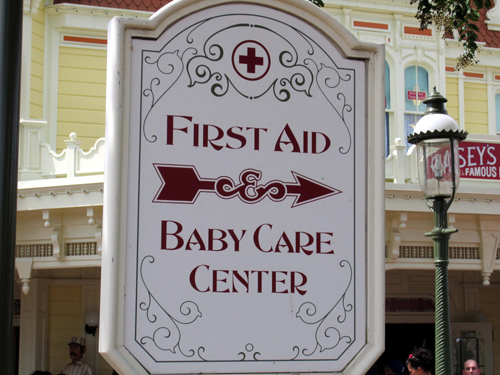 You'll find the First Aid Center and Baby Care Center conveniently located in the same place!