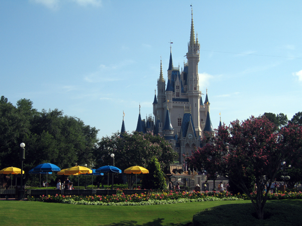 You can cover much of the Magic Kingdom in just a few miles of walking.