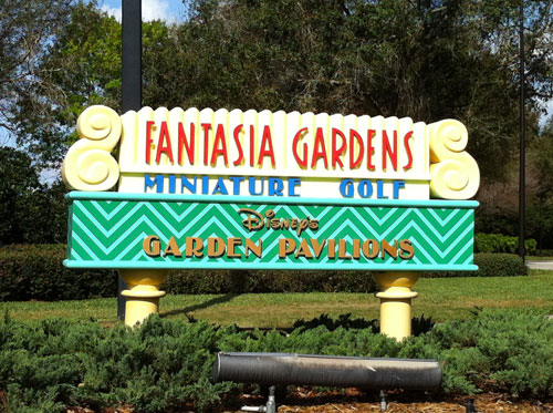 Fantasia Gardens is the more challenging of Disney World's Miniature Golf Courses.