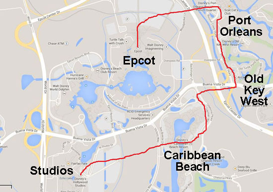 My proposed Disney monorail expansion. Like it?