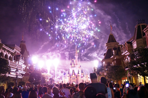 New Years Eve at Disney World is exciting - and crowded.