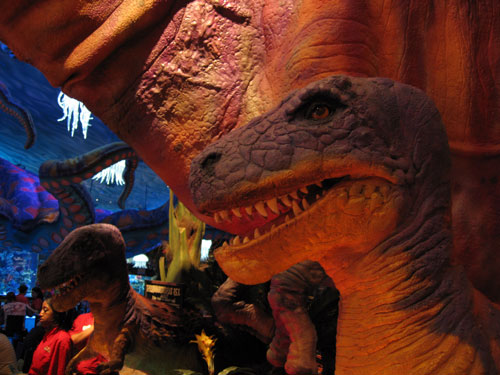 Visit some dinosaurs in Disney Springs!