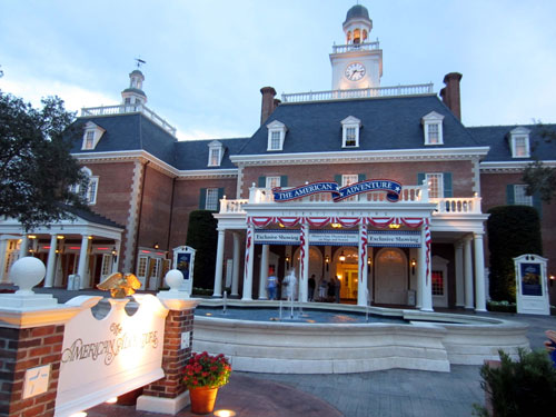 The American Adventure will make you proud to be an American.
