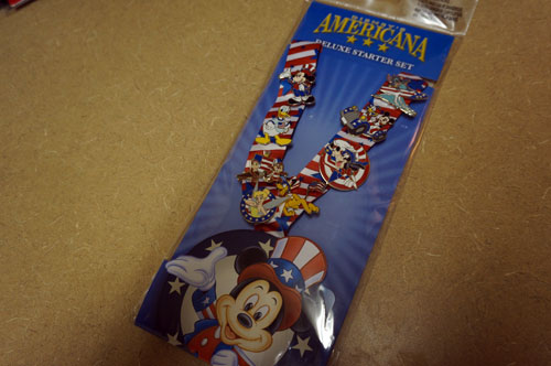 This set of pins celebrates Disney Americana.