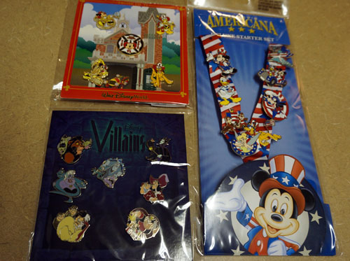 You can win all three sets of Disney Trading Pins.