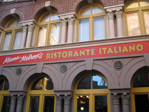 Try the flatbread at Mama Melrose's Ristorante Italiano.