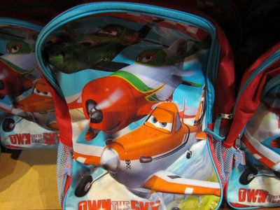 Backpack with Disney Planes characters.