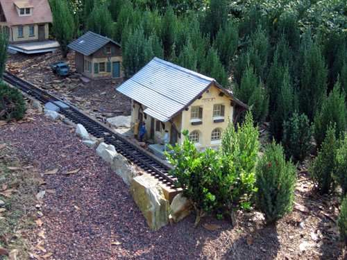 The miniature railroad near the Germany Pavilion can entertain youngsters for a while.