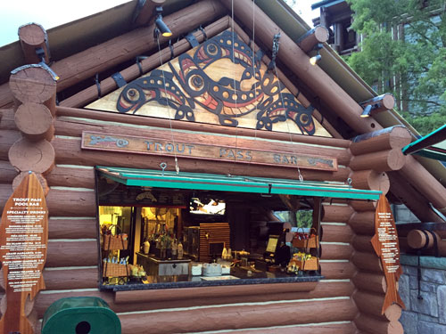 Relax in the wilderness at the Trout Pass Pool Bar.