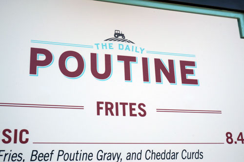 This quick service location is all about fries (also known as frites).