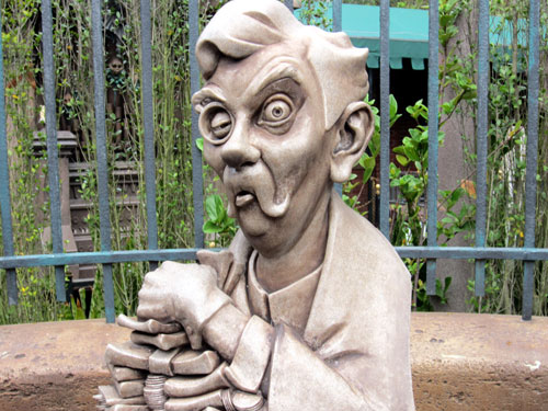 The graveyard at the Haunted Mansion is amazing.