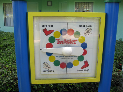 Where else but at Disney is there an outdoor Twister game, ready for play at any time?