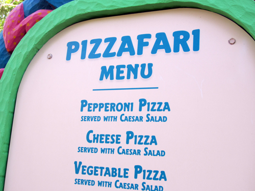 You won't find much variety here- pizza anyone?