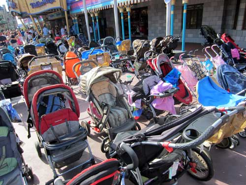 Put you stroller in designated parking spots only.