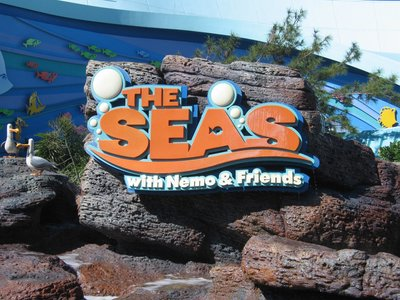 Take in huge aquariums and talk with Crush in The Seas.