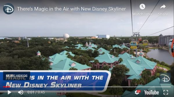 The Disney Skyliner enters service on September 29, 2019. Photo credits (C) Disney Enterprises, Inc. All Rights Reserved
