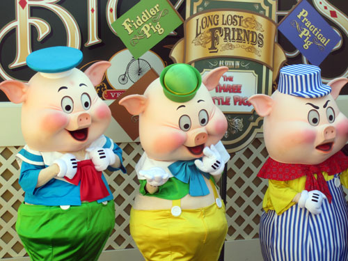 I didn't find a social media account for The Three Little Pigs. Maybe Disney should make them one!