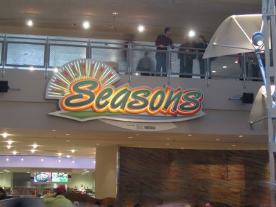 The Seasons food court in The Land offers many dining options.