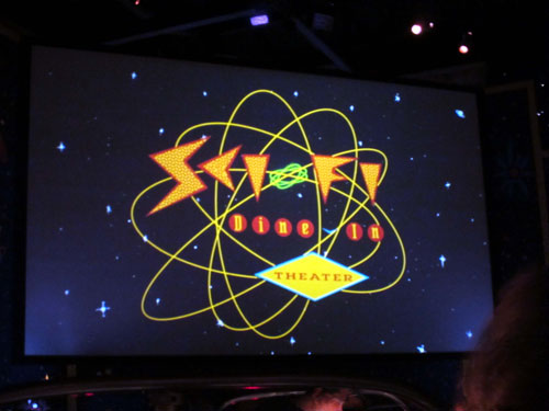 The Sci-Fi Dine In Theater is a fun place to eat and enjoy some hokey movie entertainment.