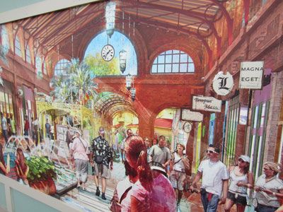 Disney Springs Concept Art - open interior space.