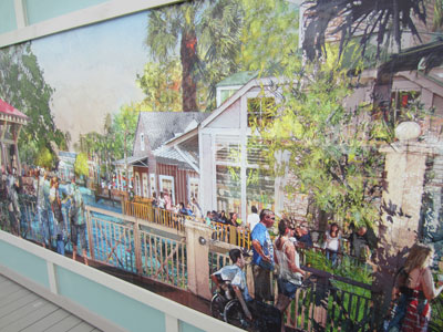 Disney Springs Concept Art - old-Florida architecture.