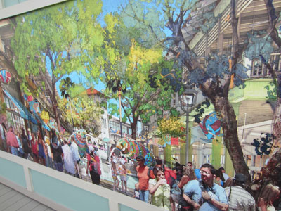 Disney Springs Concept Art - happy people everywhere.