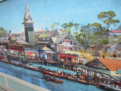 Disney Springs Concept Art - on the water.