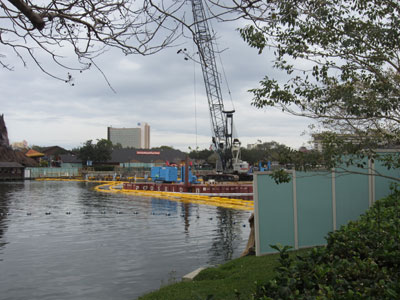 Construction on the waterways.