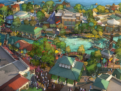 The Town Center will feature new shops and restaurants. Photo credits (C) Disney Enterprises, Inc. All Rights Reserved