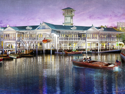 The Landing is a new waterfront area. Photo credits (C) Disney Enterprises, Inc. All Rights Reserved