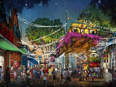 The West Side will feature new elevated areas. Photo credits (C) Disney Enterprises, Inc. All Rights Reserved