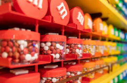 Floor to ceiling and wall to wall colorful and sweet M&Ms!