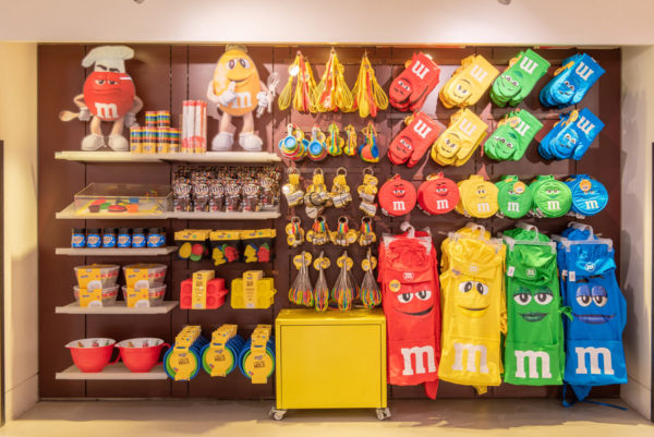 Colorful M&M's merchandise will be on display. Photo credits (C) Disney Enterprises, Inc. All Rights Reserved