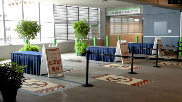 Disney has set up temperature screening locations in the Orange and Lime garages. Photo credits (C) Disney Enterprises, Inc. All Rights Reserved