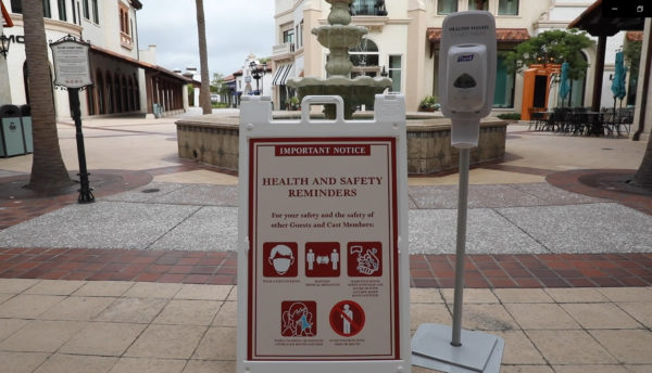 Disney has added safety reminder signs and hand sanitizer stations. Photo credits (C) Disney Enterprises, Inc. All Rights Reserved