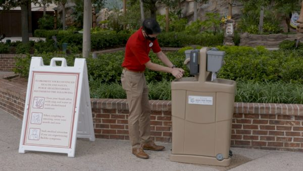 Disney Springs has also added additional hand washing stations. Photo credits (C) Disney Enterprises, Inc. All Rights Reserved