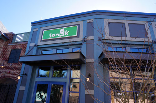 Sanuk, a shoe store that focuses on comfortable shoes, wasn't open yet.