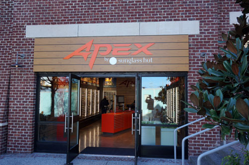 Apex by Sunglass Hut is open.