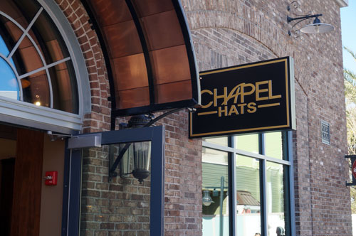 Chapel Hats is open.