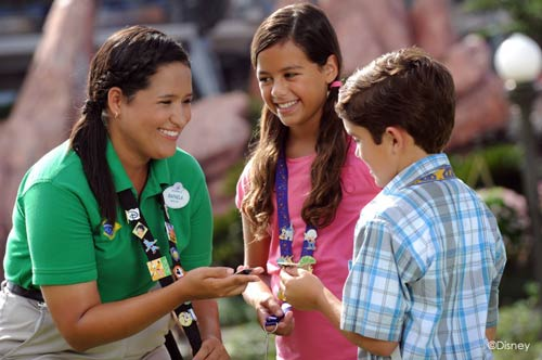 Super Greeters assist tourists from Brazil.  Photo credits (C) Disney Enterprises, Inc. All Rights Reserved