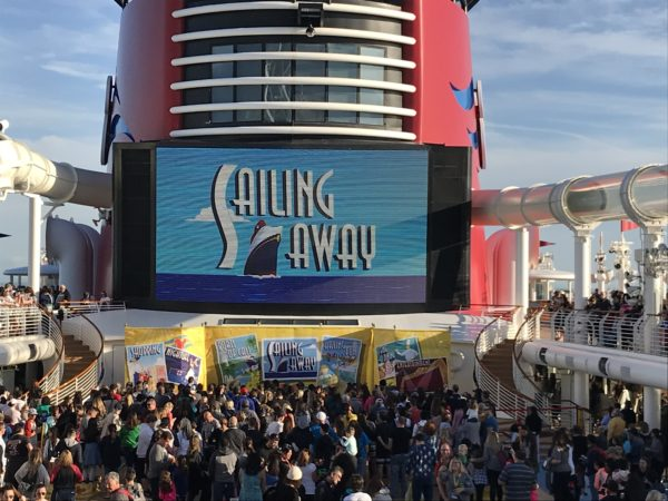 The Disney Cruise Line test cruise is on.