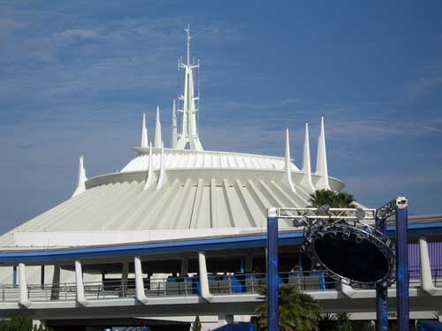 Space Mountain doesn't move that quickly, but the darkness makes it a thrill.