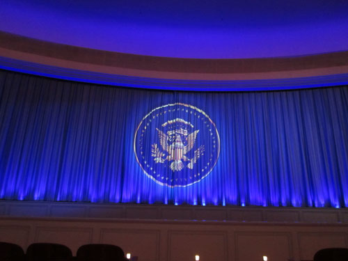 The technology that controls The Hall of Presidents has vastly improved over time.