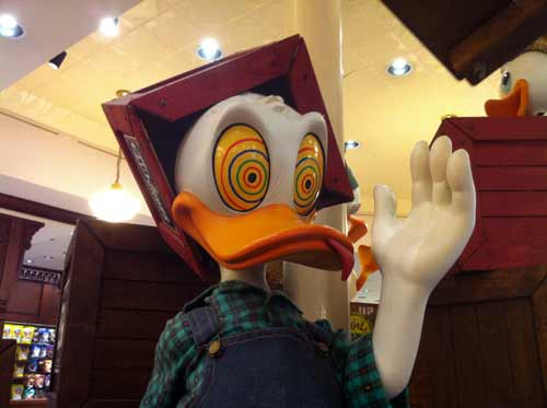 Check out this Donald Duck statue at Fulton's General Store!