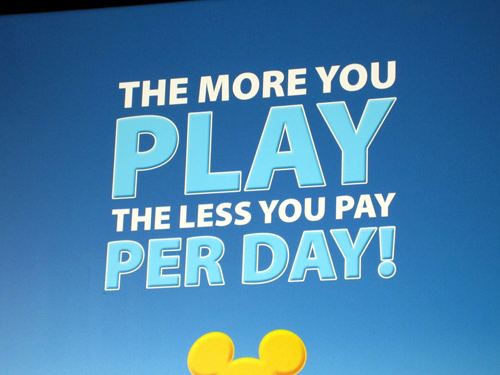Stay longer, play more, pay less- that's how it works in Disney!